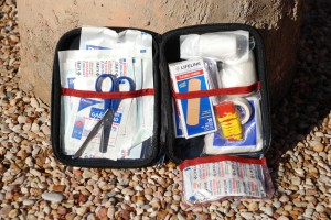 This Life Line first aid kit is a good start for cycling.